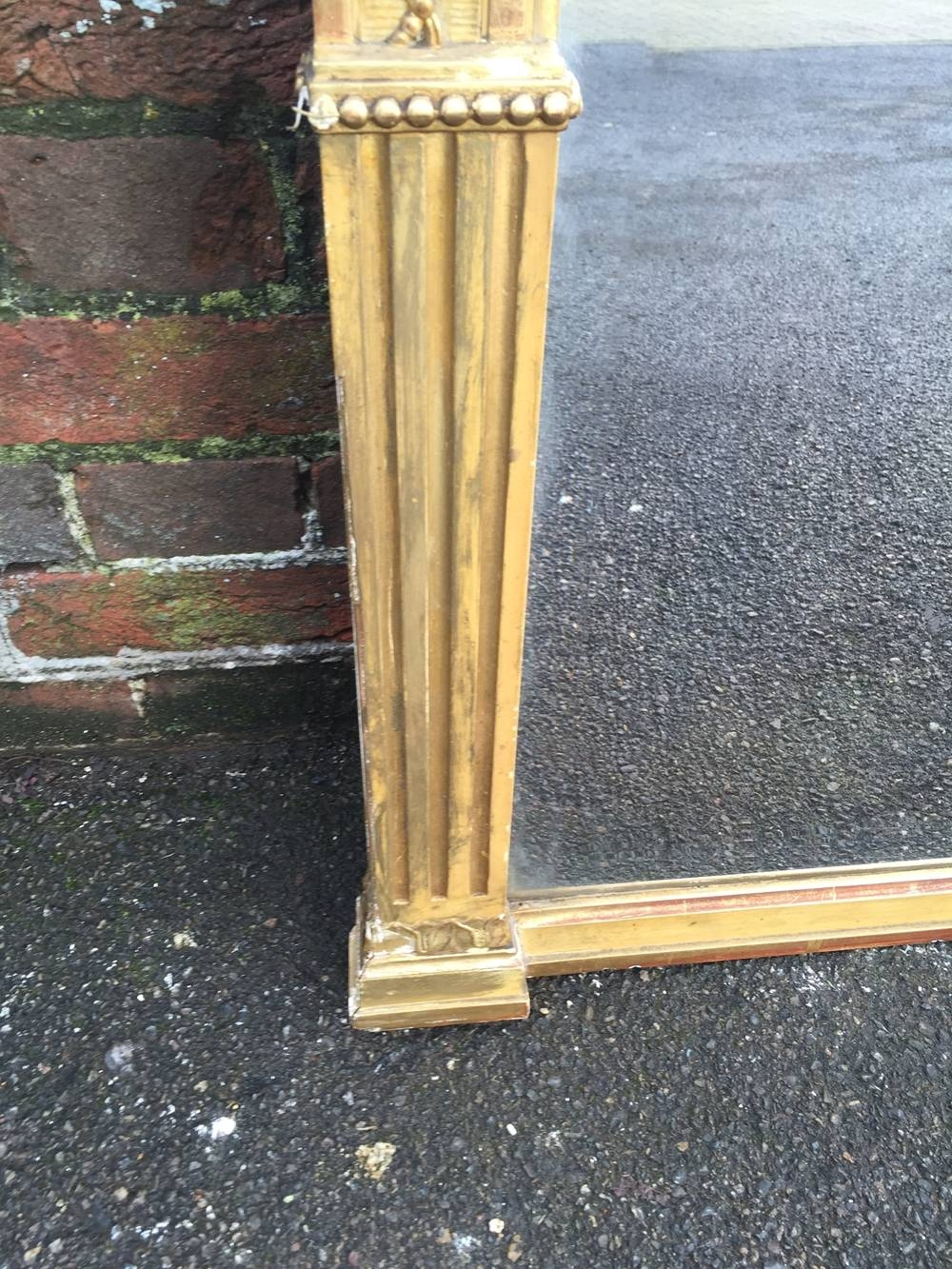 A Wonderful Large Antique 19Th Century French Original Carved Wood for Antique Large Mirrors (Image 9 of 25)