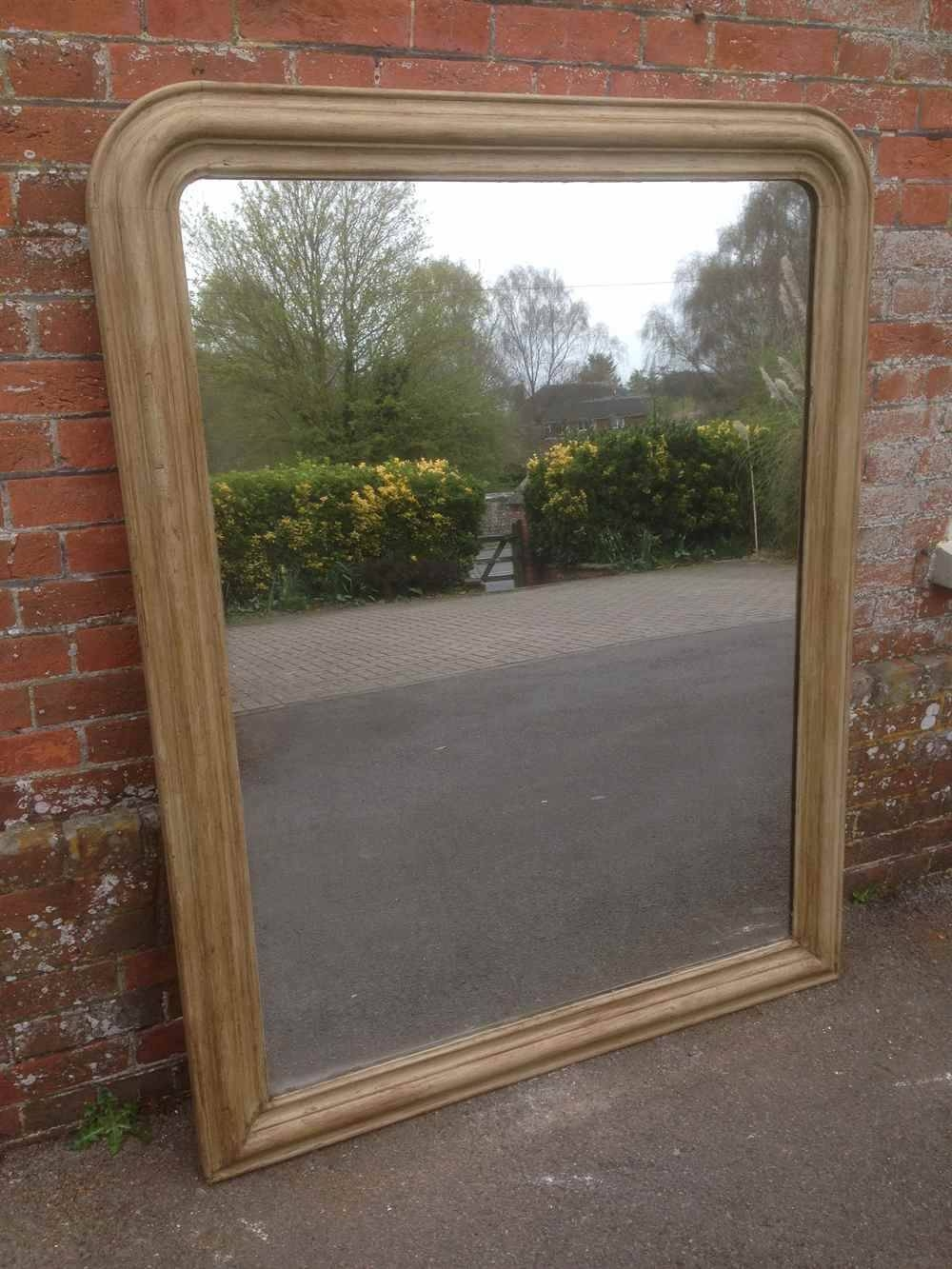 A Wonderful Original Large Antique 19Th Century French Arched Top With Regard To Antique Large Mirrors (View 13 of 25)