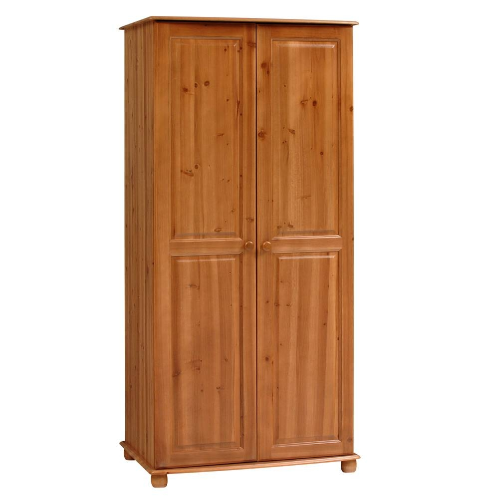Aarhus Pine Double Wardrobe Including Free Delivery (1026.007 inside Double Pine Wardrobes (Image 1 of 15)
