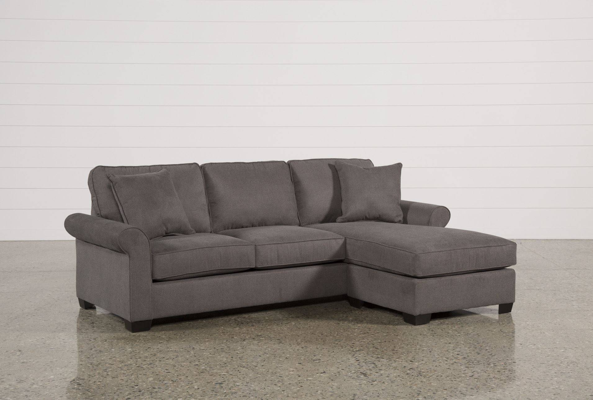 Abbyson Living Bedford Gray Linen Convertible Sleeper Sectional with regard to Abbyson Sectional Sofa (Image 3 of 30)