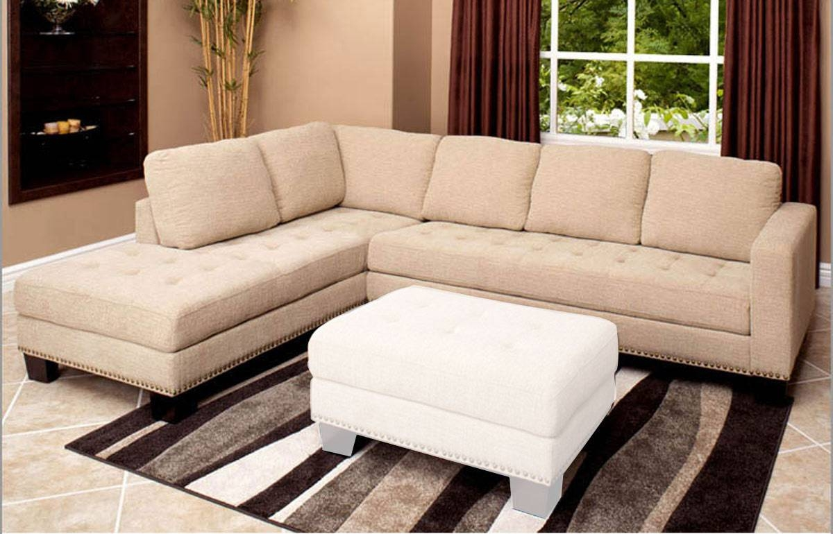 Abbyson Living Claridge Fabric Sectional Sofa Ab-Ci-D10357-Crm At pertaining to Abbyson Sectional Sofa (Image 7 of 30)