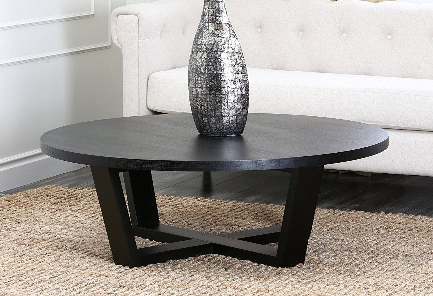 Abbyson Living Heritage Round Espresso Coffee Table | Coffee intended for Heritage Coffee Tables (Image 3 of 30)