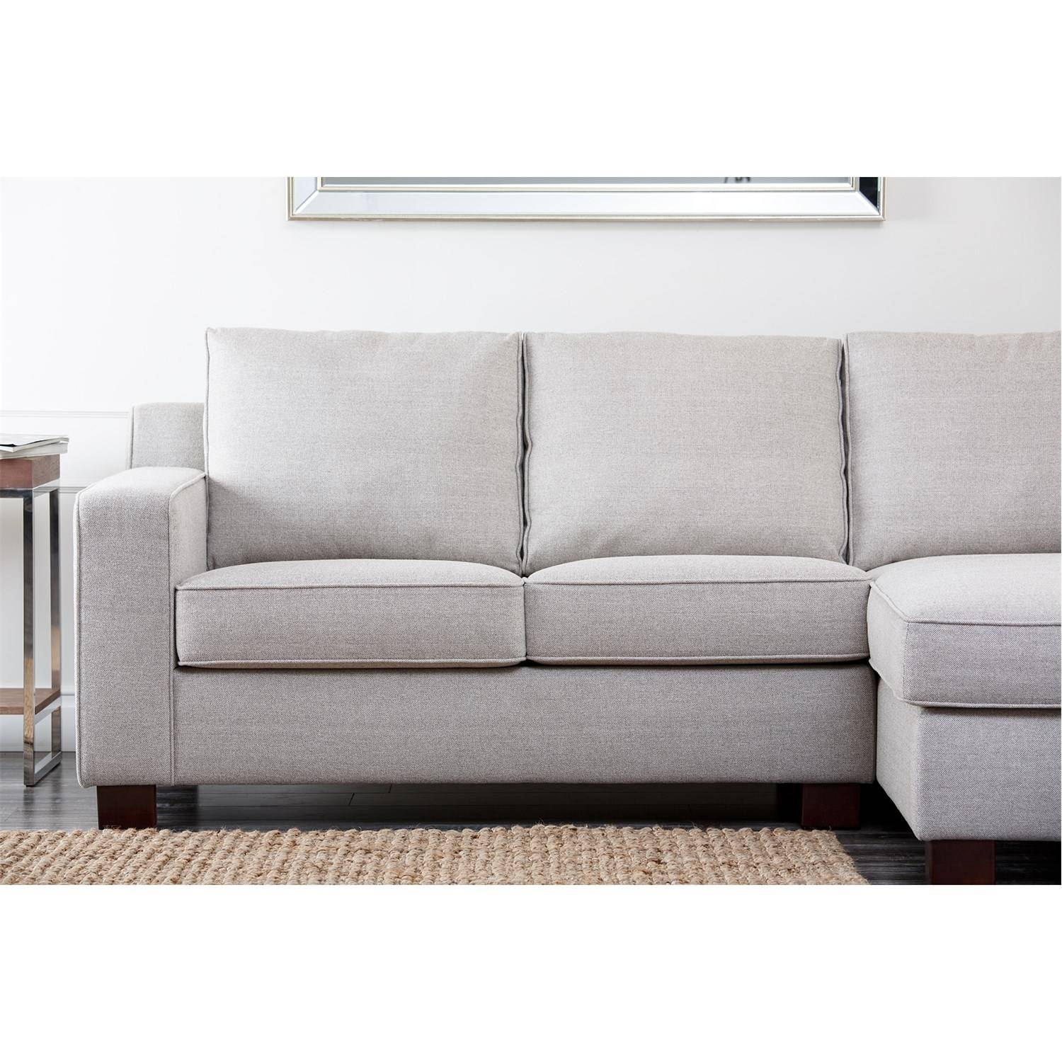 Abbyson Living Rl-1321-Gry Regina Grey Fabric Sectional Sofa inside Abbyson Sectional Sofa (Image 8 of 30)