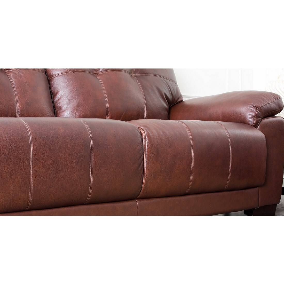Abbyson Living Sf-5902-Cst-3 Florence Two Tone Brown Leather Sofa within Florence Leather Sofas (Image 1 of 30)