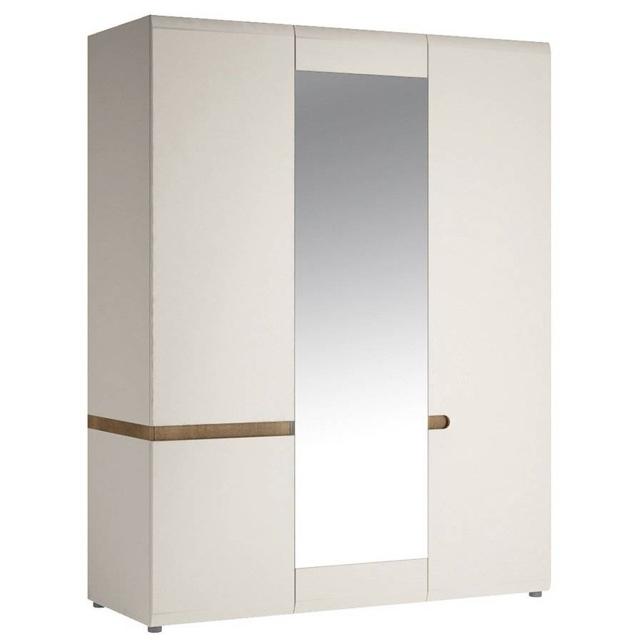 Abdabs Furniture - Chelsea 3 Door Wardrobe With Mirror - White pertaining to 3 Door White Wardrobes (Image 1 of 30)