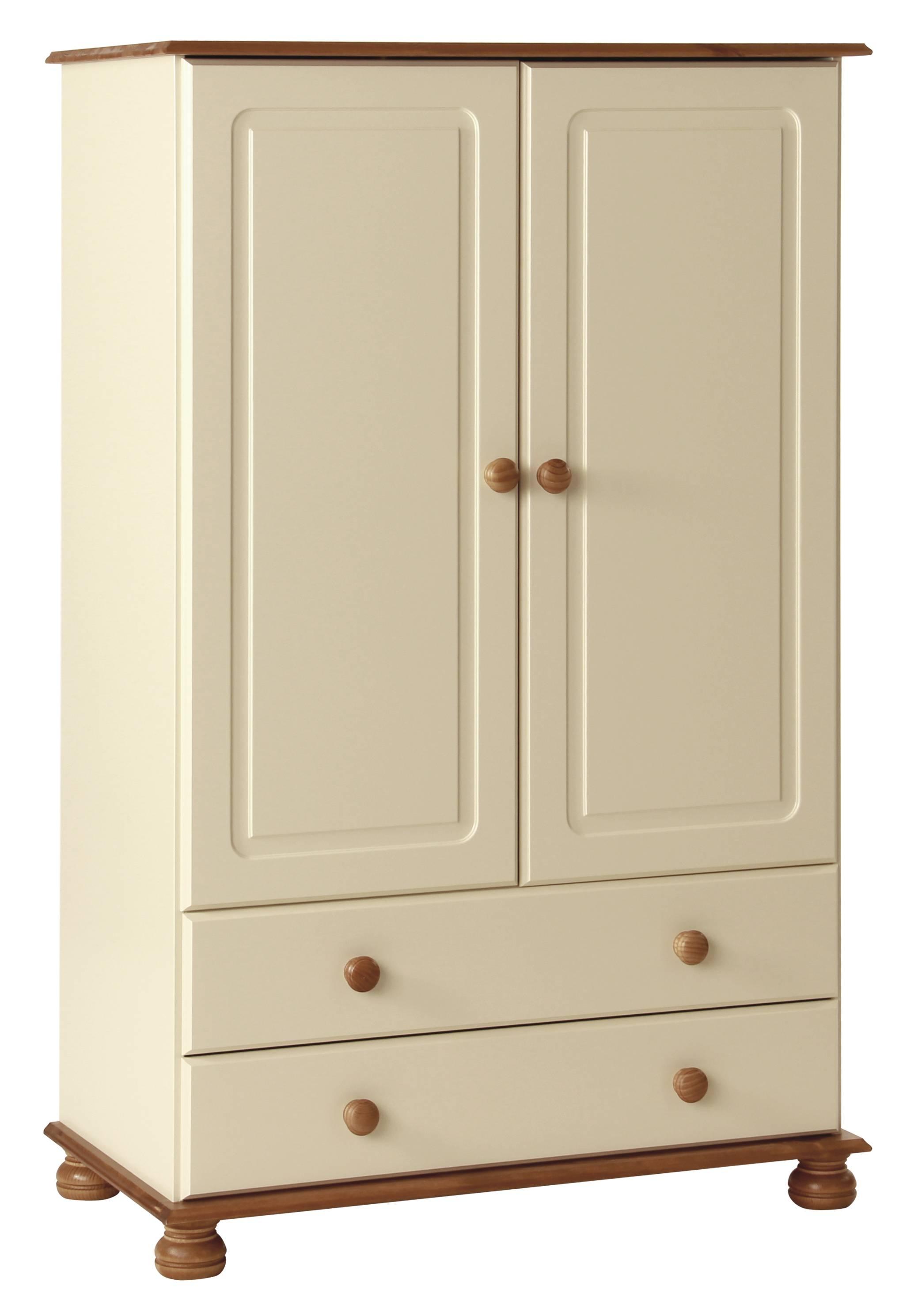 Abdabs Furniture - Copenhagen Cream 2 Door 2 Drawer Combi Wardrobe in Combi Wardrobes (Image 1 of 15)