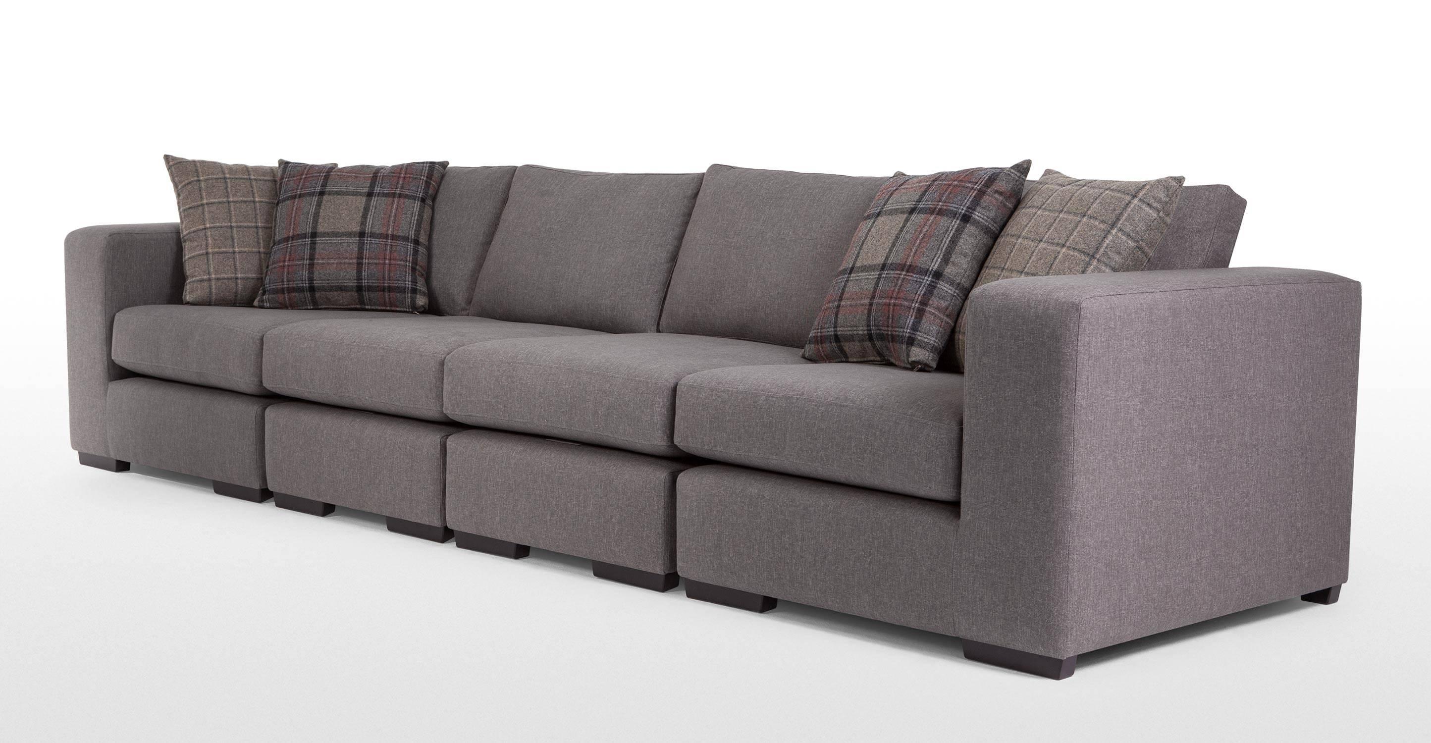 Abingdon Modular Corner Sofa Group In Misty Grey | Made for Modular Corner Sofas (Image 7 of 30)