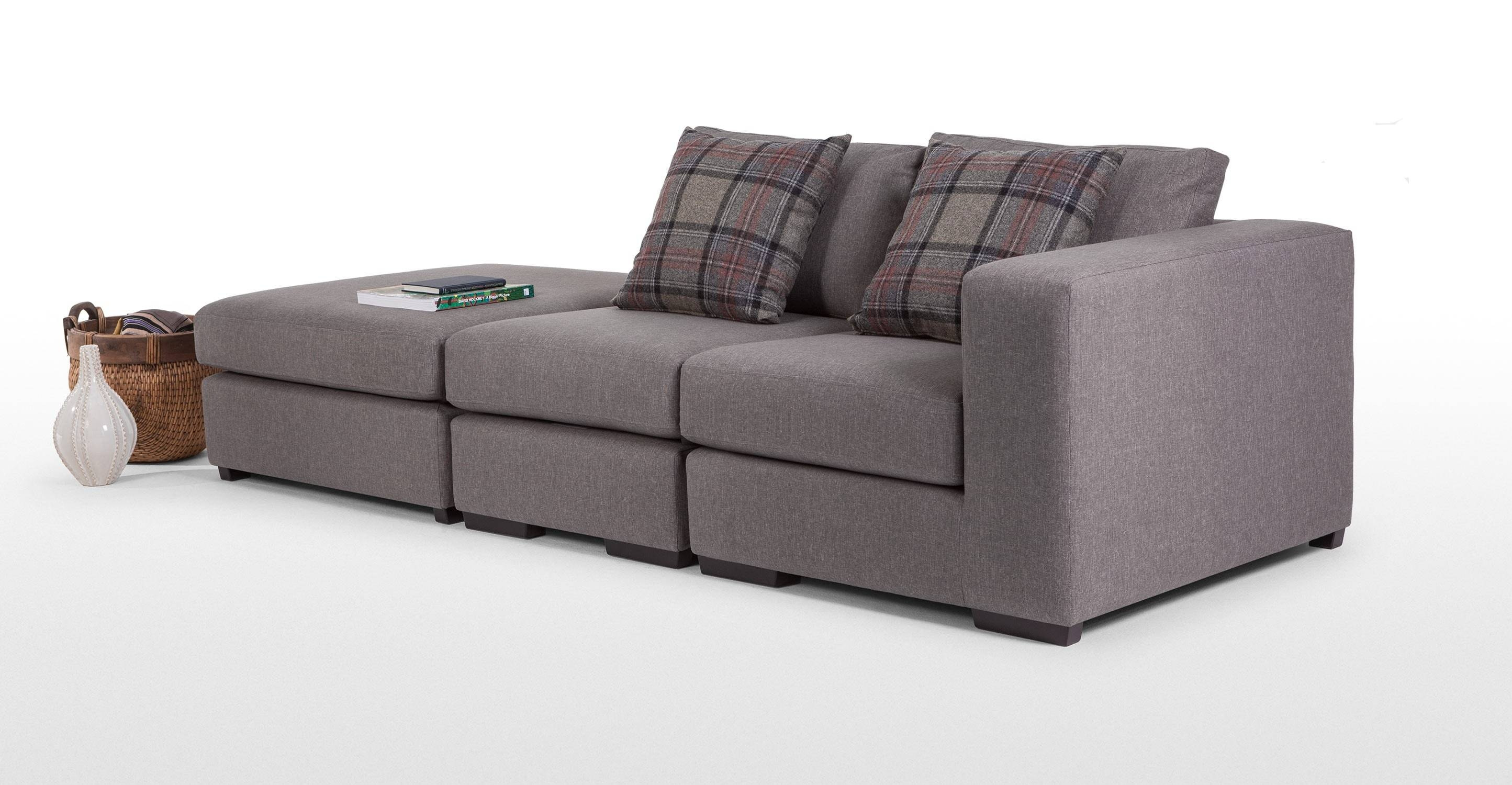 Abingdon Modular Corner Sofa Group In Misty Grey | Made for Modular Corner Sofas (Image 6 of 30)