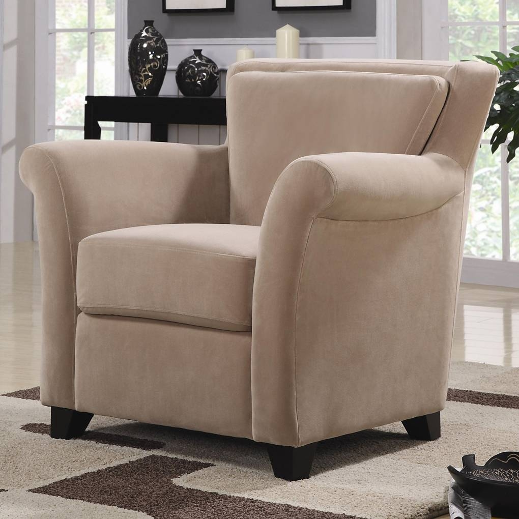 Accent Seating Flared Stationary Chair With Rolled Arms | Accent pertaining to Accent Sofa Chairs (Image 5 of 30)