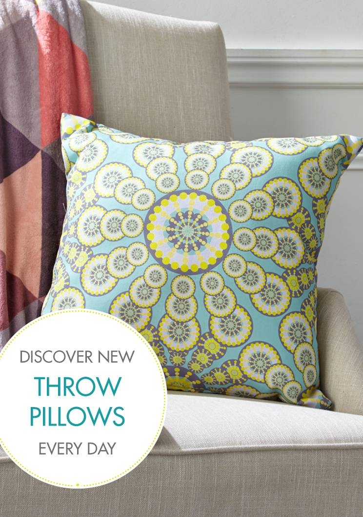 Accent Throw Pillows | Zulily throughout Oversized Sofa Pillows (Image 1 of 30)