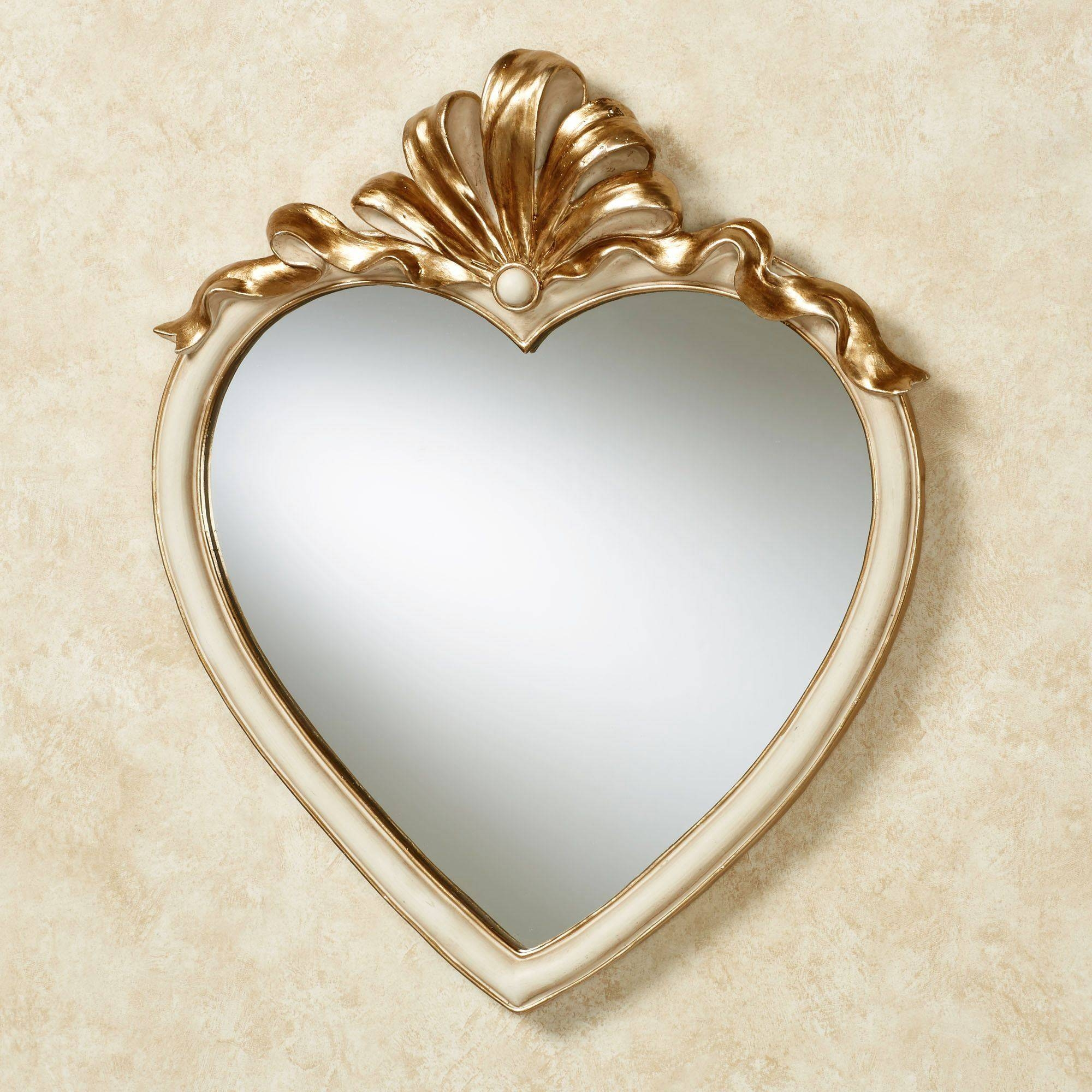 Accent Wall Mirrors in Heart Wall Mirrors (Image 1 of 25)