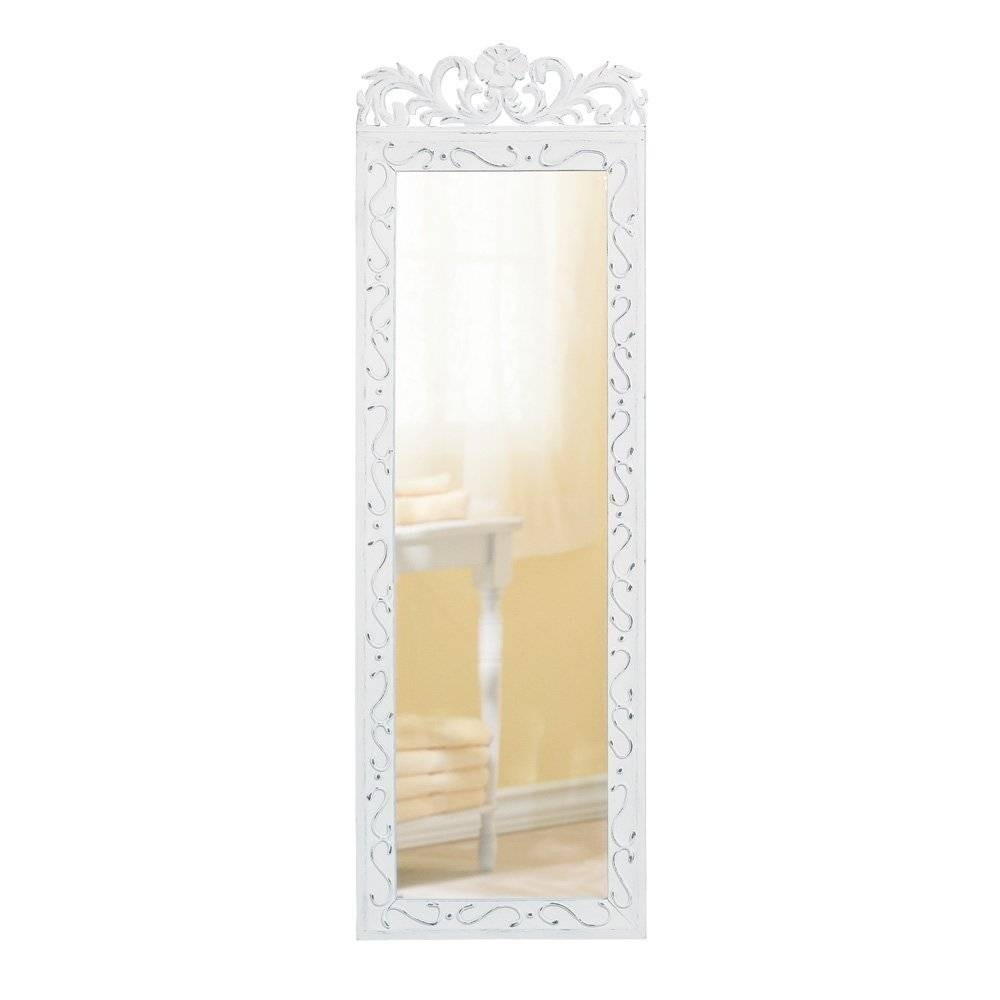 Accessories: Beauteous Modern White Bedroom Decoration Using Floor for Wrought Iron Full Length Mirrors (Image 2 of 25)