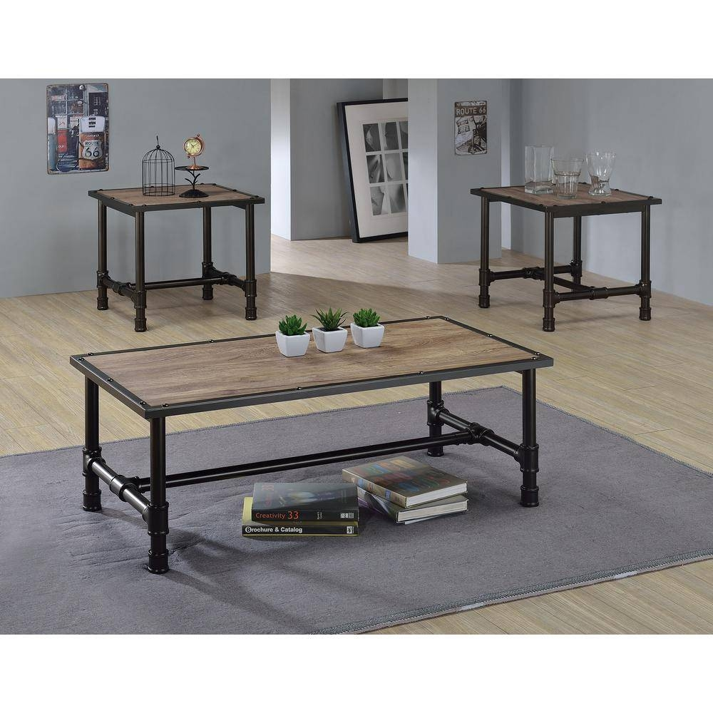 Acme Furniture Caitlin Rustic Oak Built In Storage Coffee Table Inside Storage Coffee Tables (View 2 of 30)