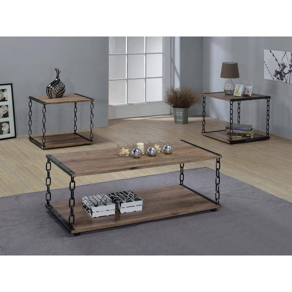 Acme Furniture Jodie Rustic Oak Built-In Storage Coffee Table with Storage Coffee Tables (Image 3 of 30)