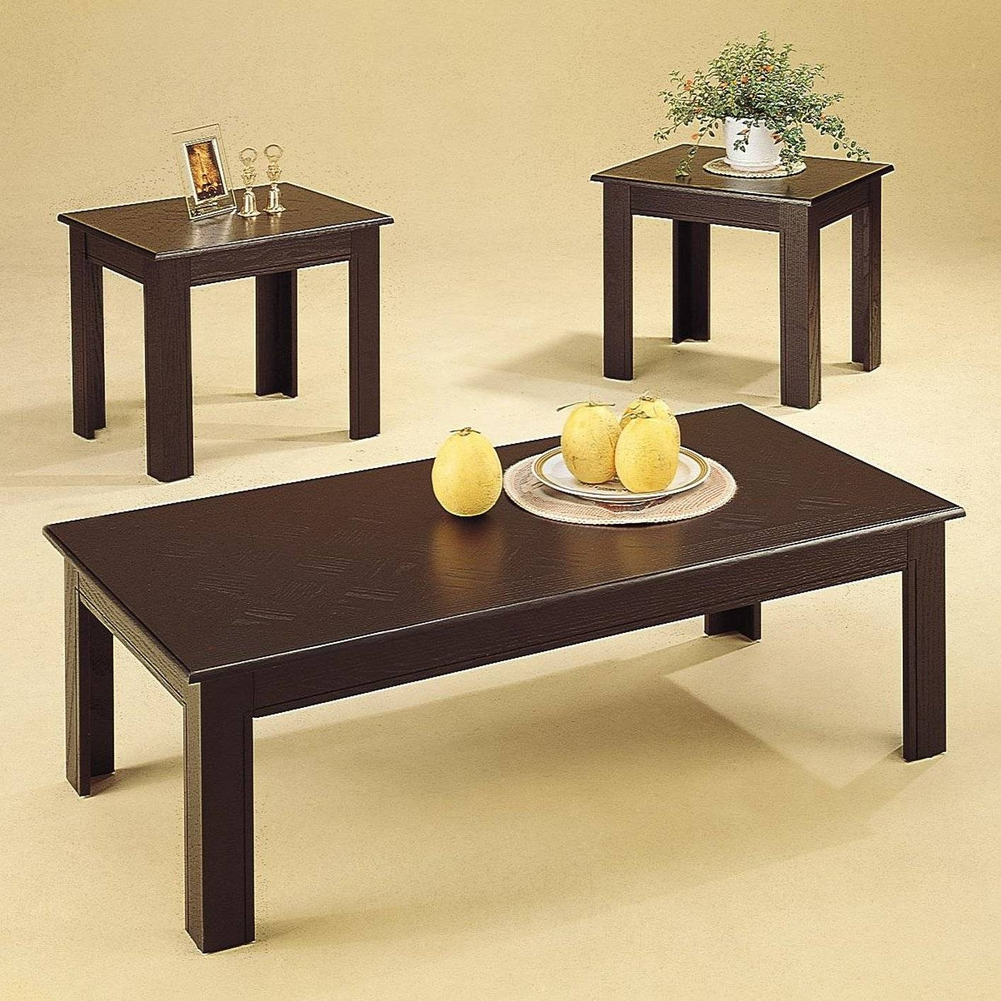 Acosta Black Wood Coffee Table Set - Steal-A-Sofa Furniture Outlet intended for Black Wood Coffee Tables (Image 1 of 30)