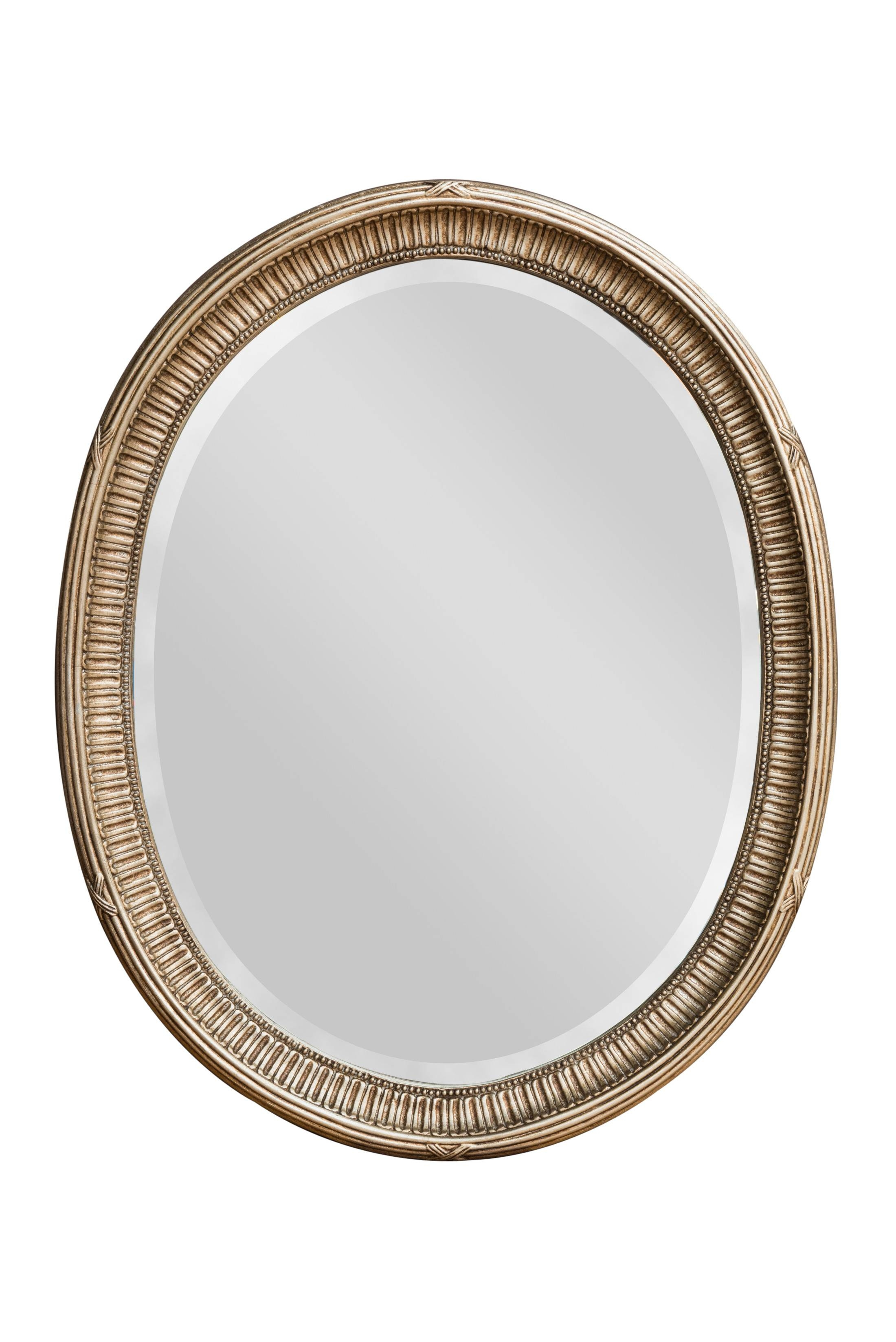 Adam Silver Oval Mirror | Bedroom Mirrors For Sale - Panfili regarding Oval Silver Mirrors (Image 3 of 25)