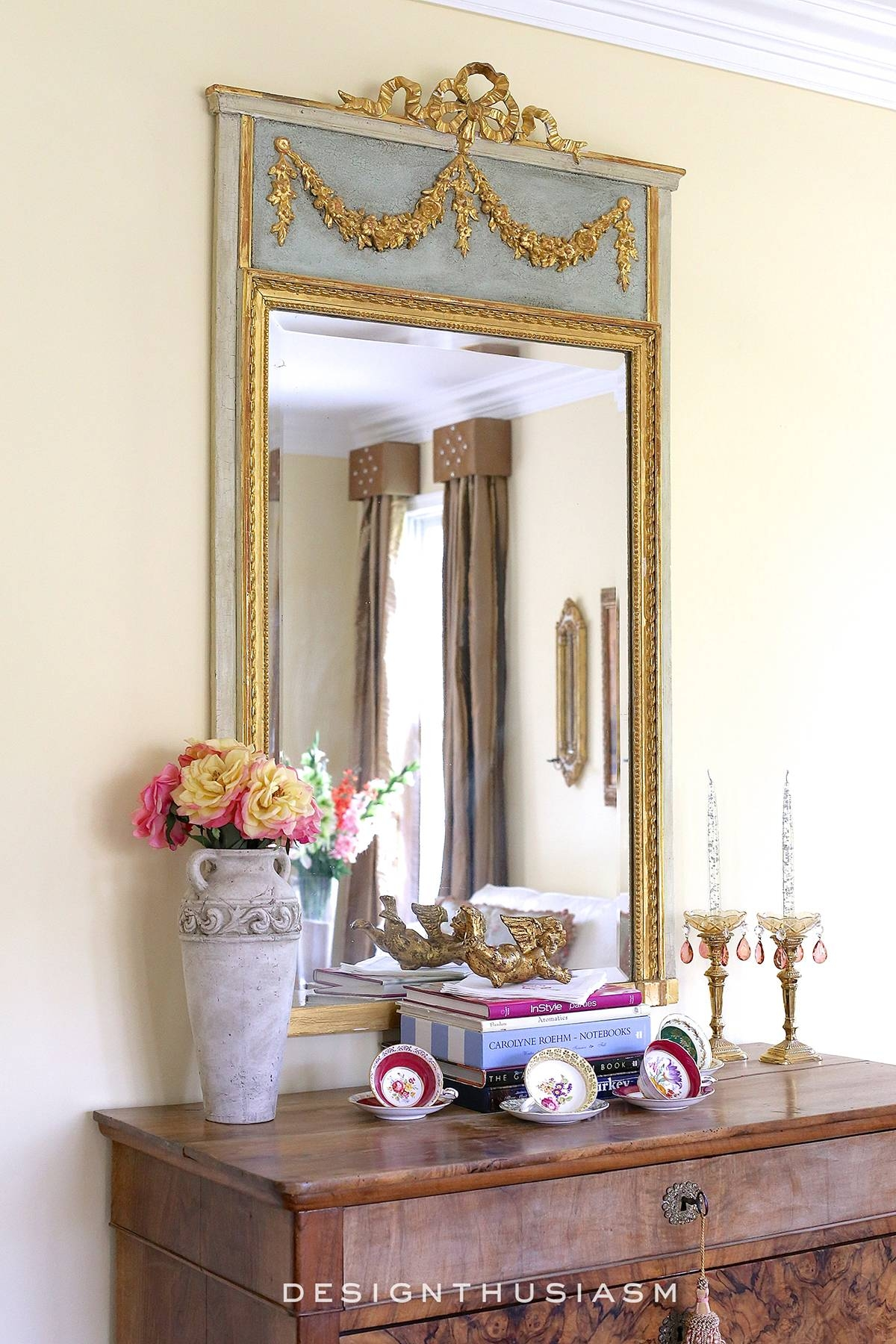 Adding French Country Charm With Gilded Mirrors with French Mirrors (Image 9 of 25)