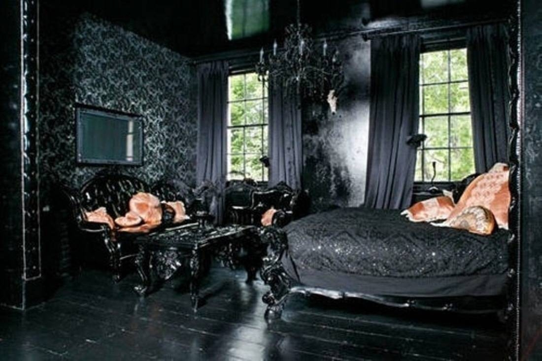 Adorable Ideas For Your Gothic Style Bedroom Interior Ideas Using inside Gothic Sofas (Image 10 of 30)