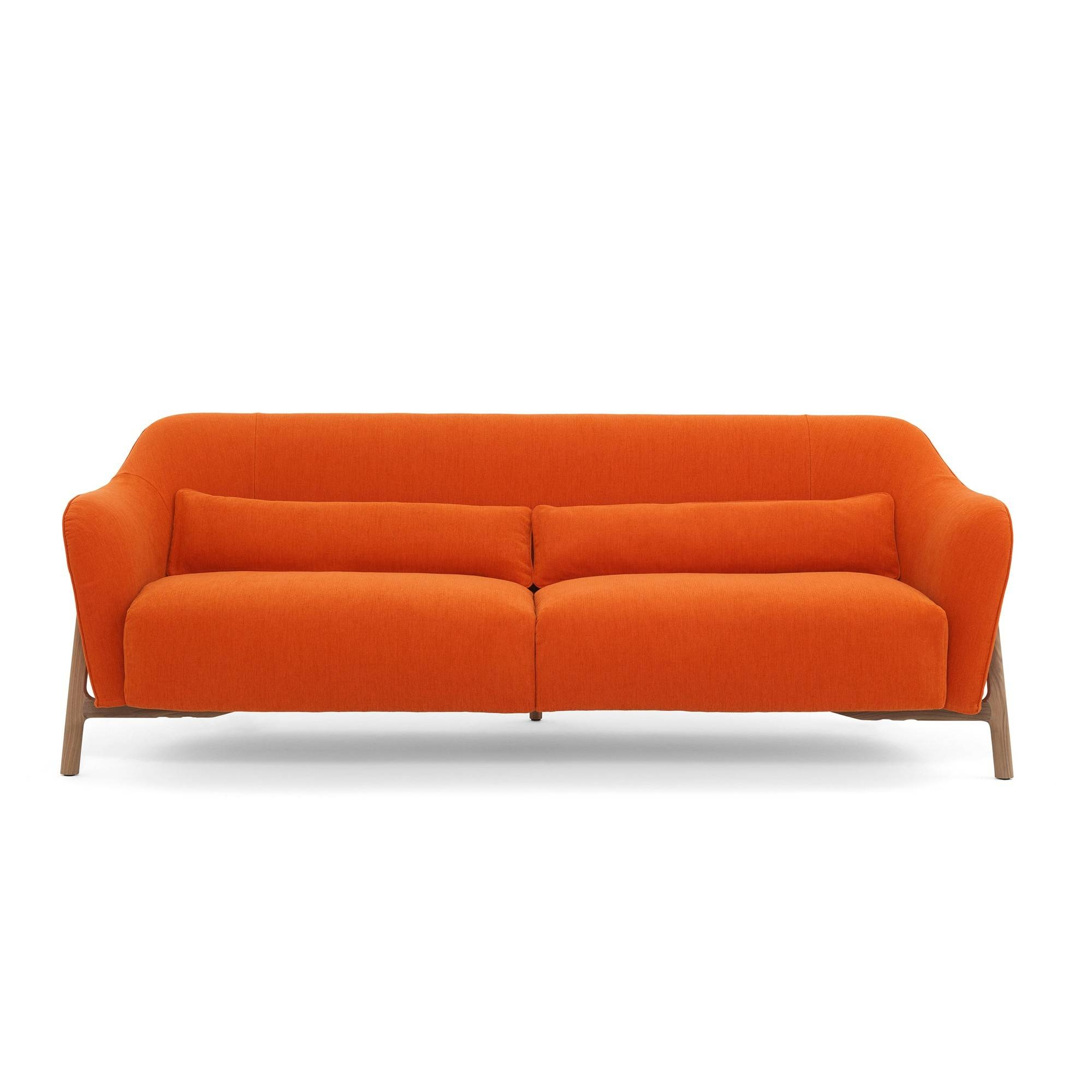 Adrian Red Sofa American Signature Furniturefactory Outlet in Orange Ikea Sofas (Image 4 of 30)