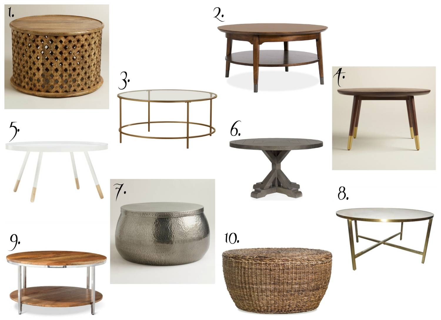 Affordable Round Coffee Tables - The Chronicles Of Home throughout Circular Coffee Tables (Image 3 of 30)