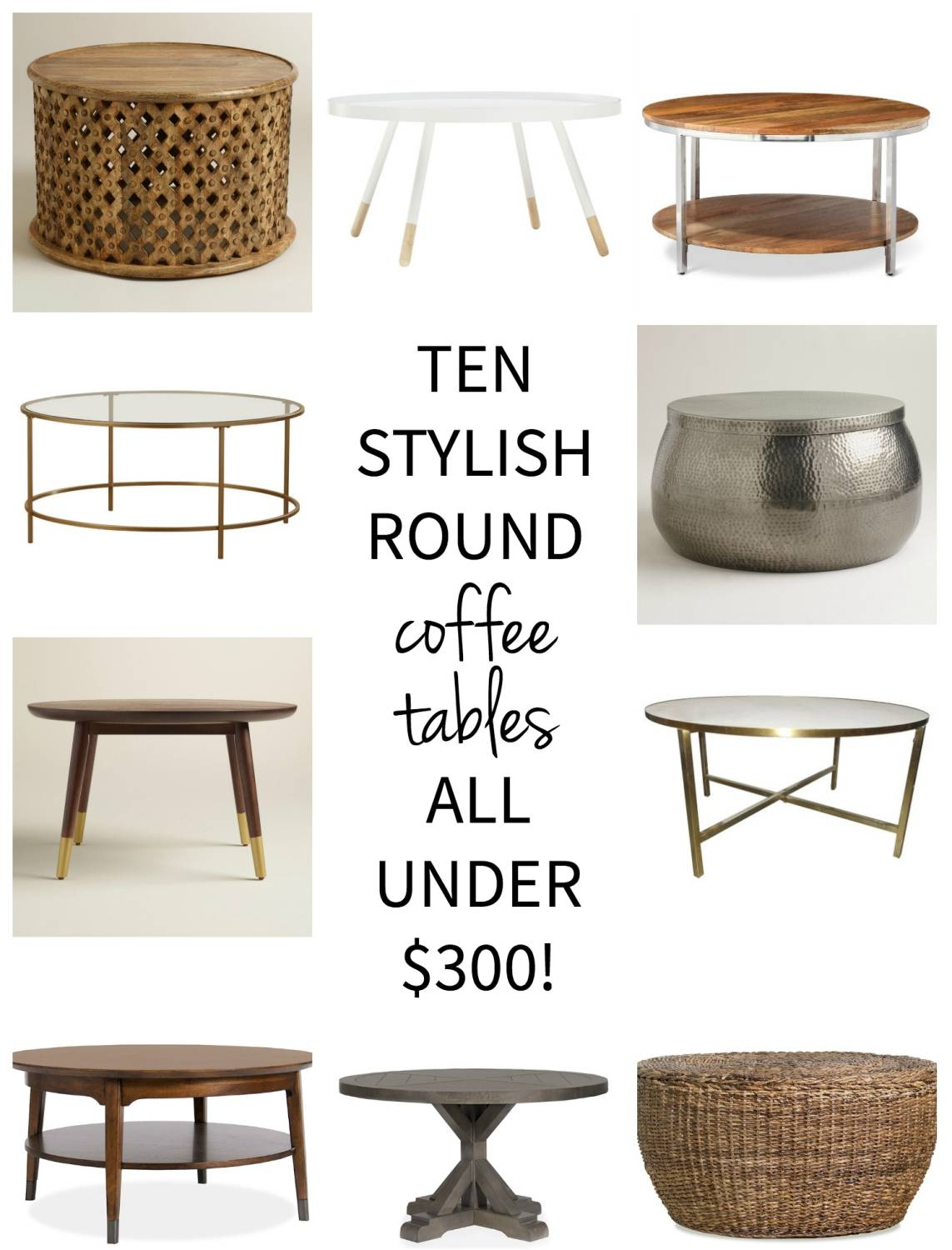 Affordable Round Coffee Tables - The Chronicles Of Home within Round Woven Coffee Tables (Image 3 of 30)