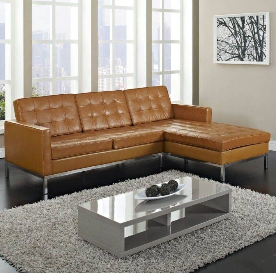 Affordable Tufted Sofa - Leather Sectional Sofa intended for Vintage Leather Sectional Sofas (Image 2 of 30)