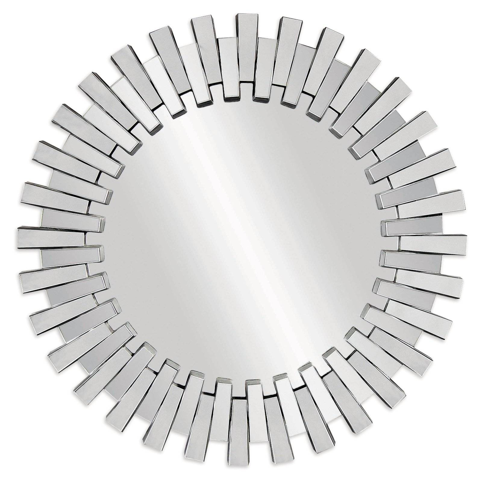 Afina Modern Luxe Round Wall Mirror - 36 In. | Hayneedle in Contemporary Round Mirrors (Image 4 of 25)