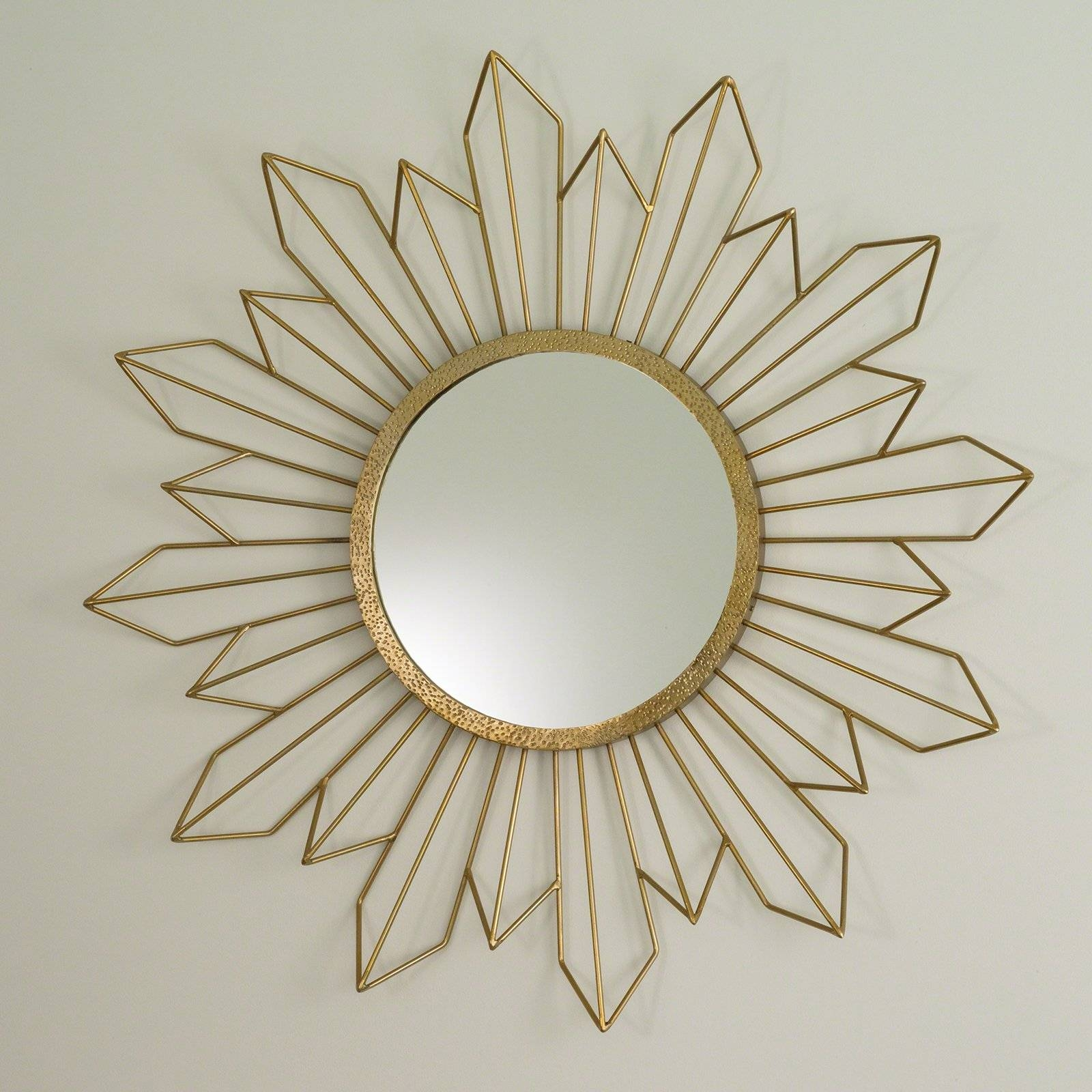 Afina Radiance Round Gear Tilt Mirror - 24 Diam. In. | Hayneedle in Gold Round Mirrors (Image 3 of 25)