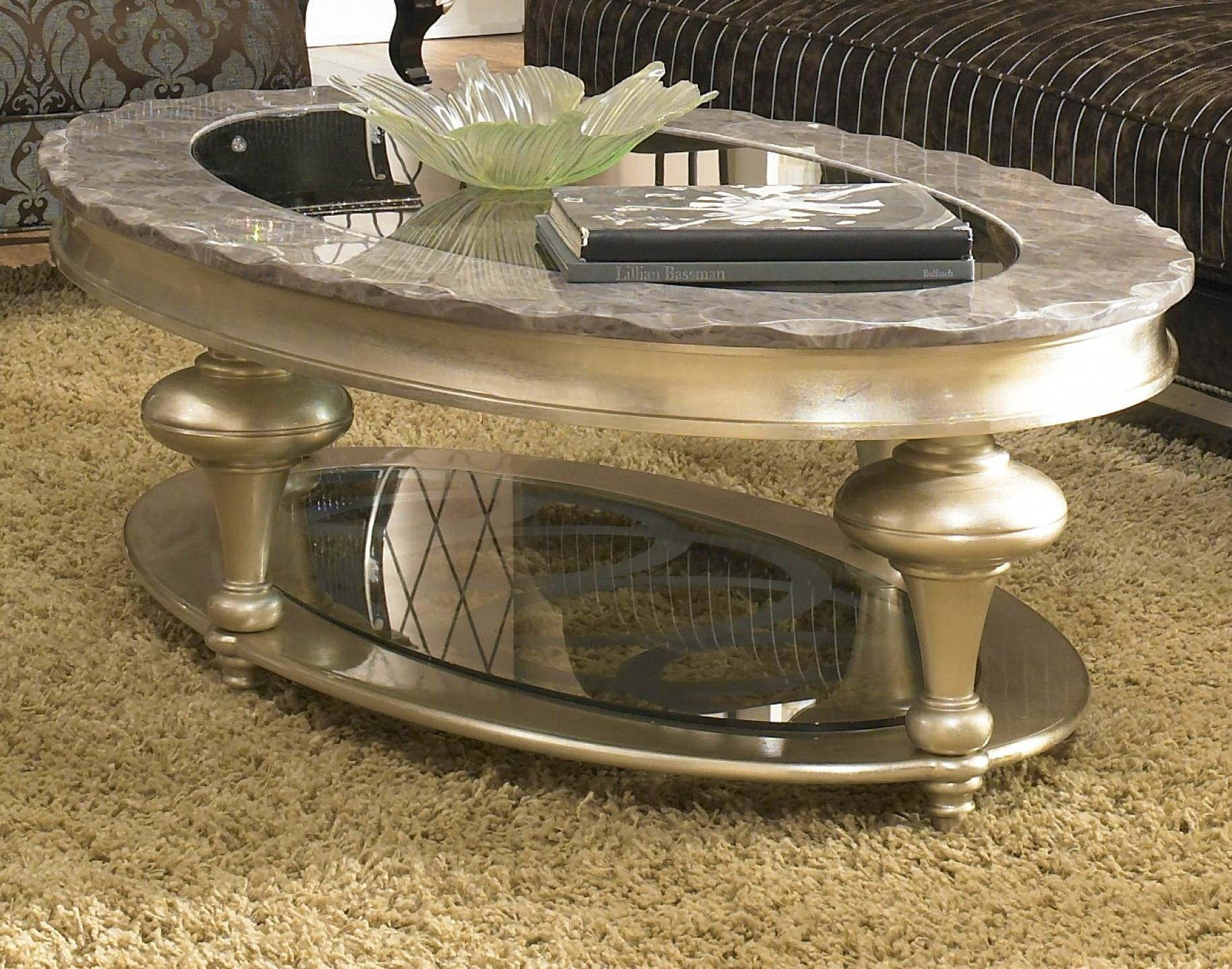 Aico Lattinia Golden Coffee Table Freestanding Occasional regarding Torino Coffee Tables (Image 6 of 30)