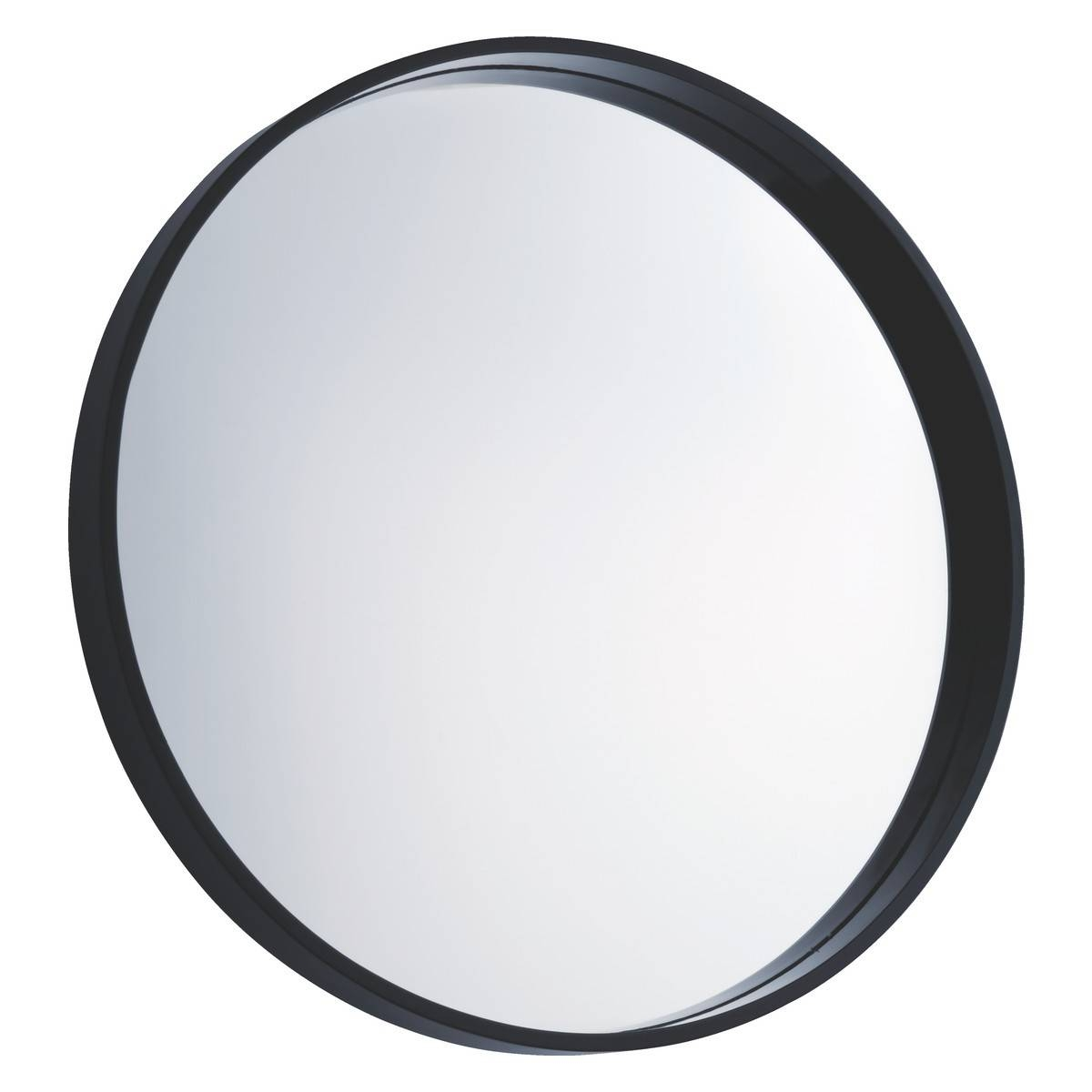 Aimee Black Round Wall Mirror D65Cm | Buy Now At Habitat Uk in Black Circle Mirrors (Image 2 of 25)