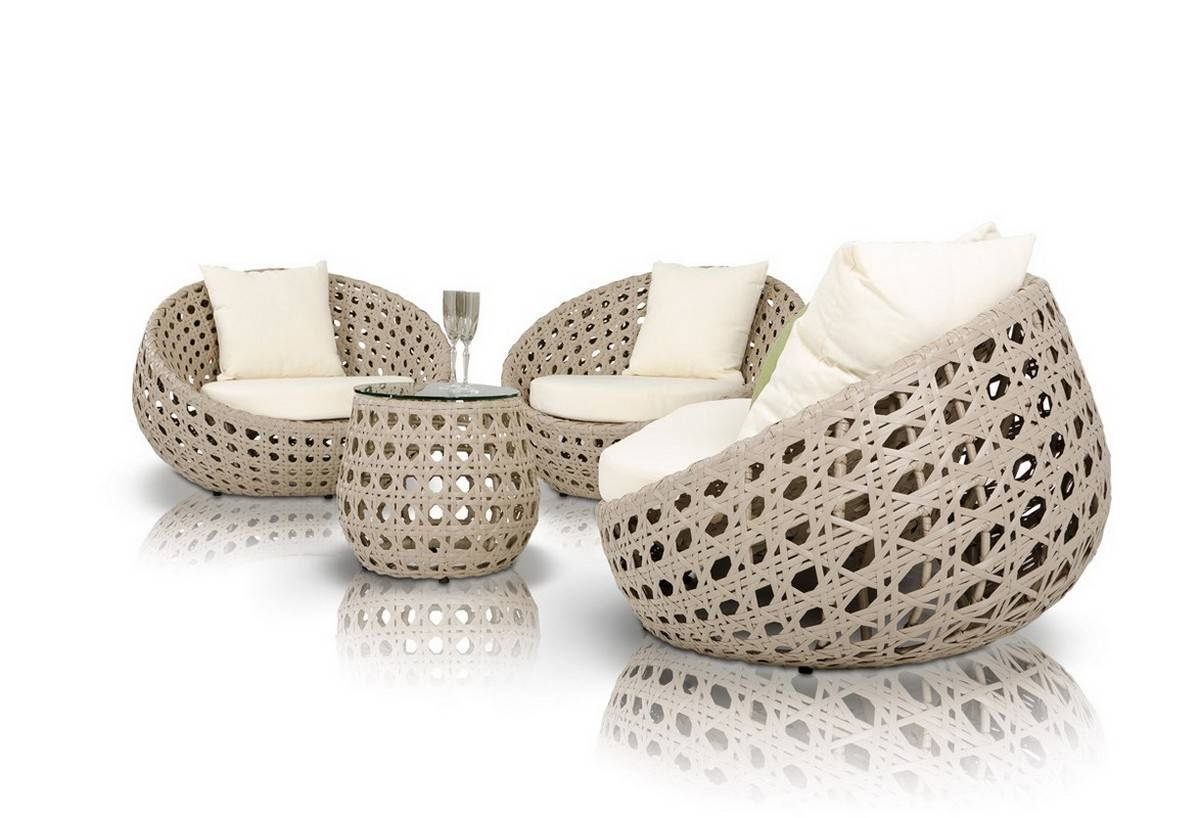 Akoi Modern 4-Piece Patio Sofa Set within Modern Rattan Sofas (Image 2 of 30)