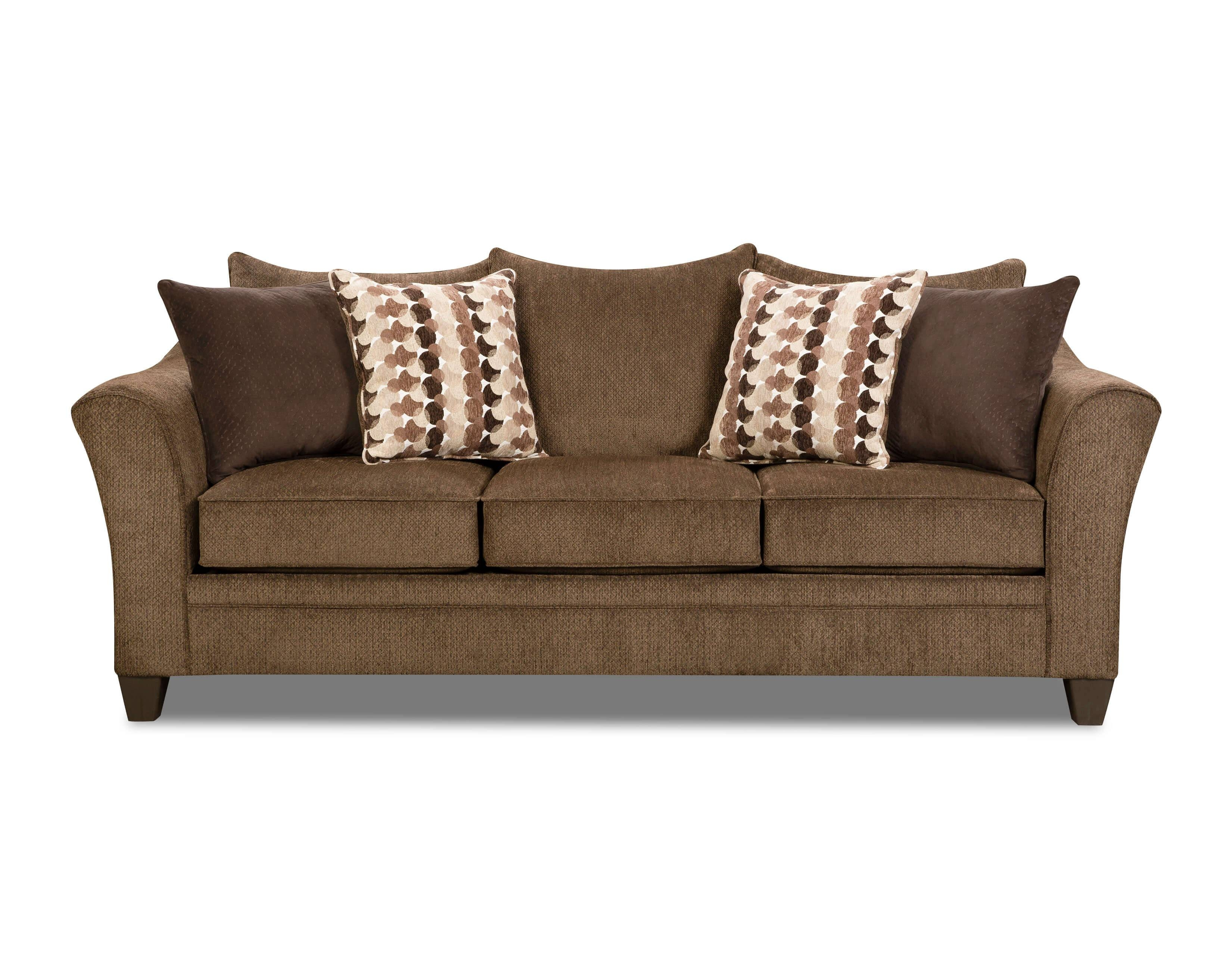 Albany Chestnut Sofa And Loveseatsimmons in Simmons Sectional Sofas (Image 1 of 30)