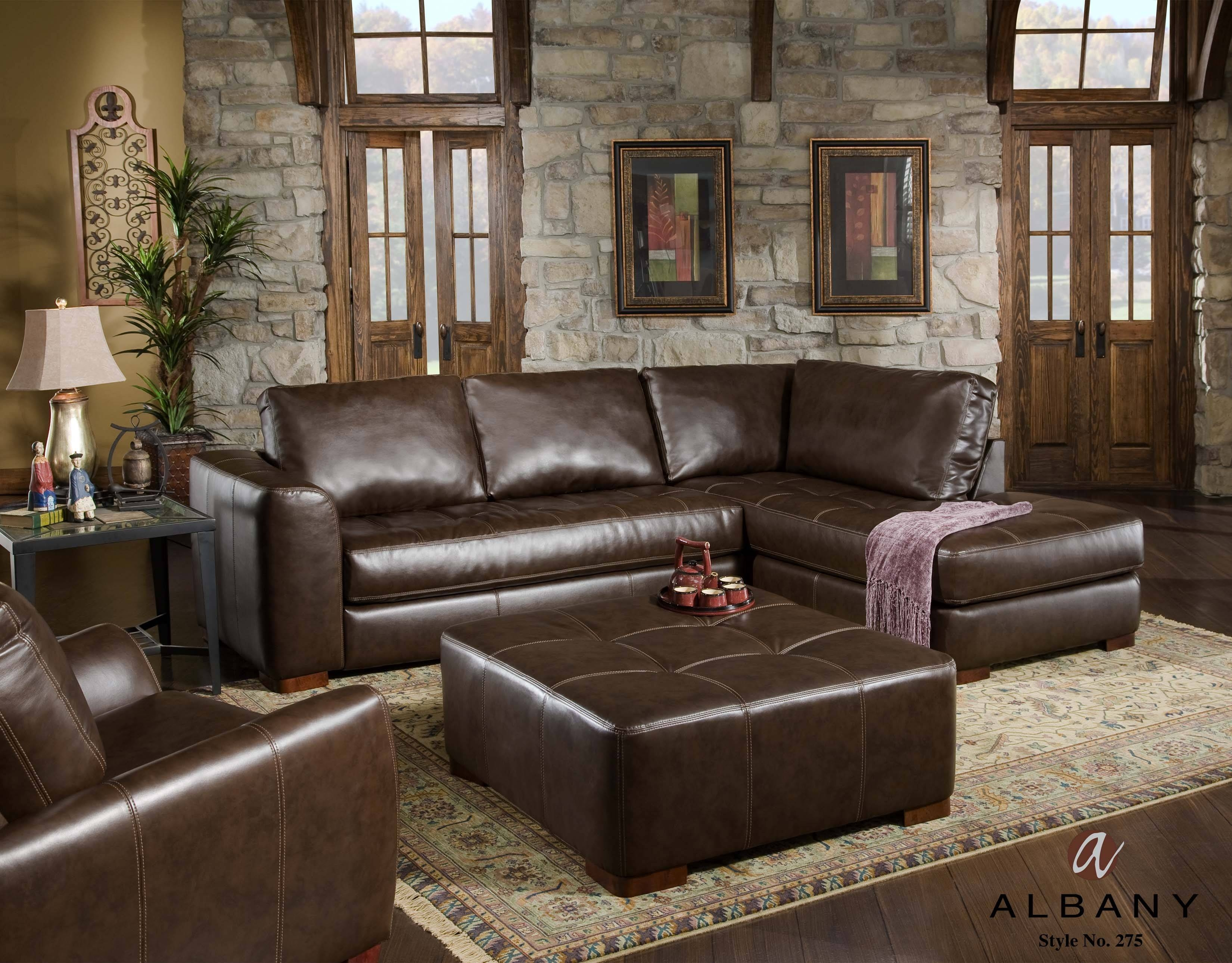 Albany Sofa - Leather Sectional Sofa for Corinthian Sectional Sofas (Image 1 of 30)