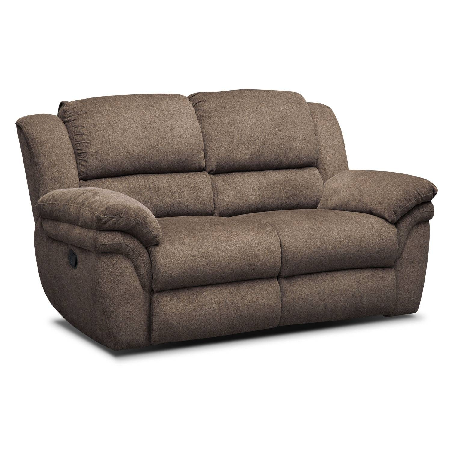 Aldo Manual Dual-Reclining Sofa, Loveseat And Recliner Set - Mocha with regard to Recliner Sofa Chairs (Image 1 of 30)