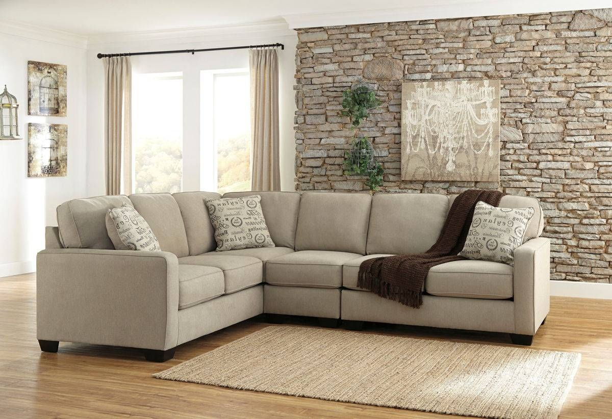 Alenya Casual Quartz Fabric Sectional W/armless Chair & Raf Within Armless Sectional Sofas (Photo 23 of 30)