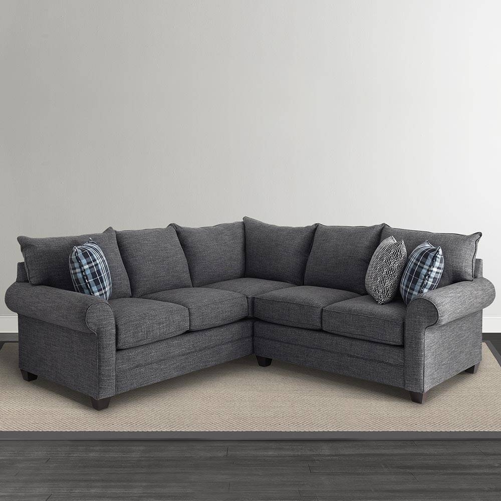 Alex L-Shaped Sectional Sofa | Living Room | Bassett Furniture within L Shaped Sectional Sleeper Sofa (Image 1 of 25)