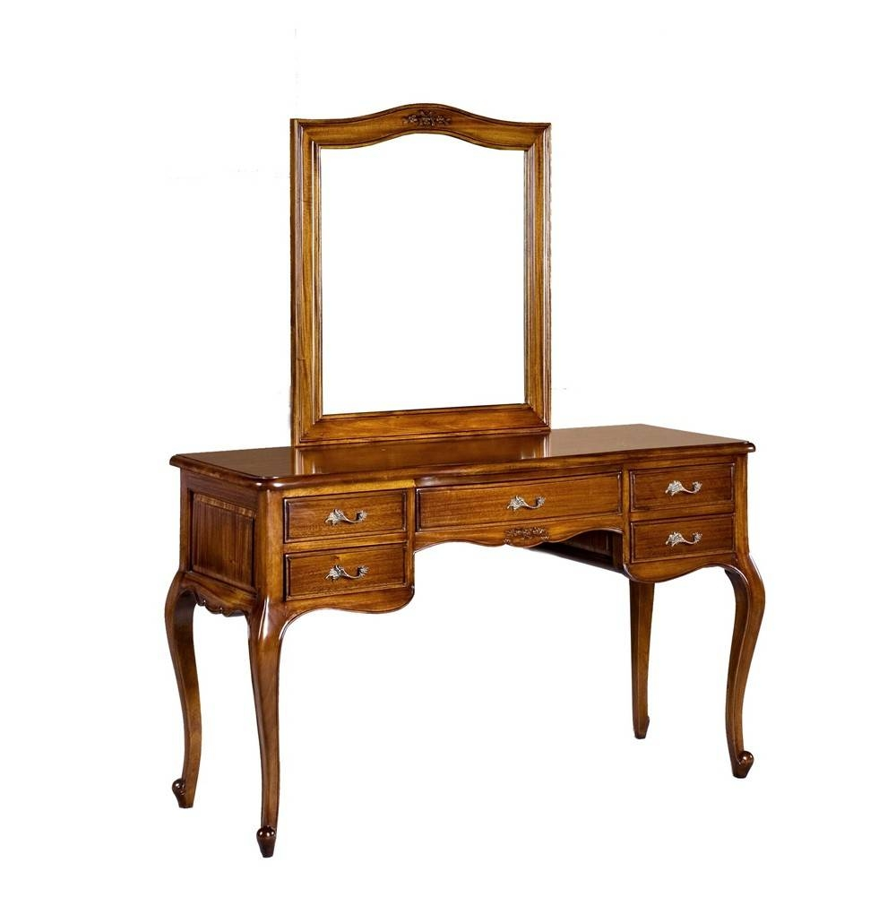 Alexander French Dressing Table With Mirror   French Bedroom intended for French Style Dressing Table Mirrors (Image 3 of 25)