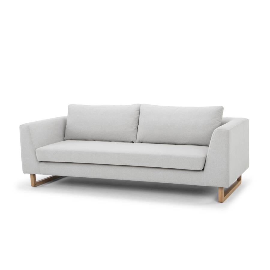 Alexis Modern Designer 3 Seater Sofa - Pale Grey intended for Modern 3 Seater Sofas (Image 3 of 30)
