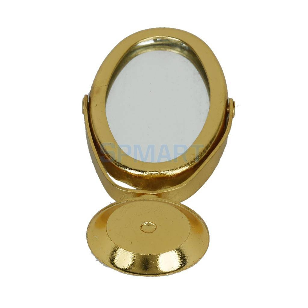Aliexpress : Buy 1/12 Dollhouse Miniature Metal Dressing Table with Gold Table Mirrors (Image 3 of 25)