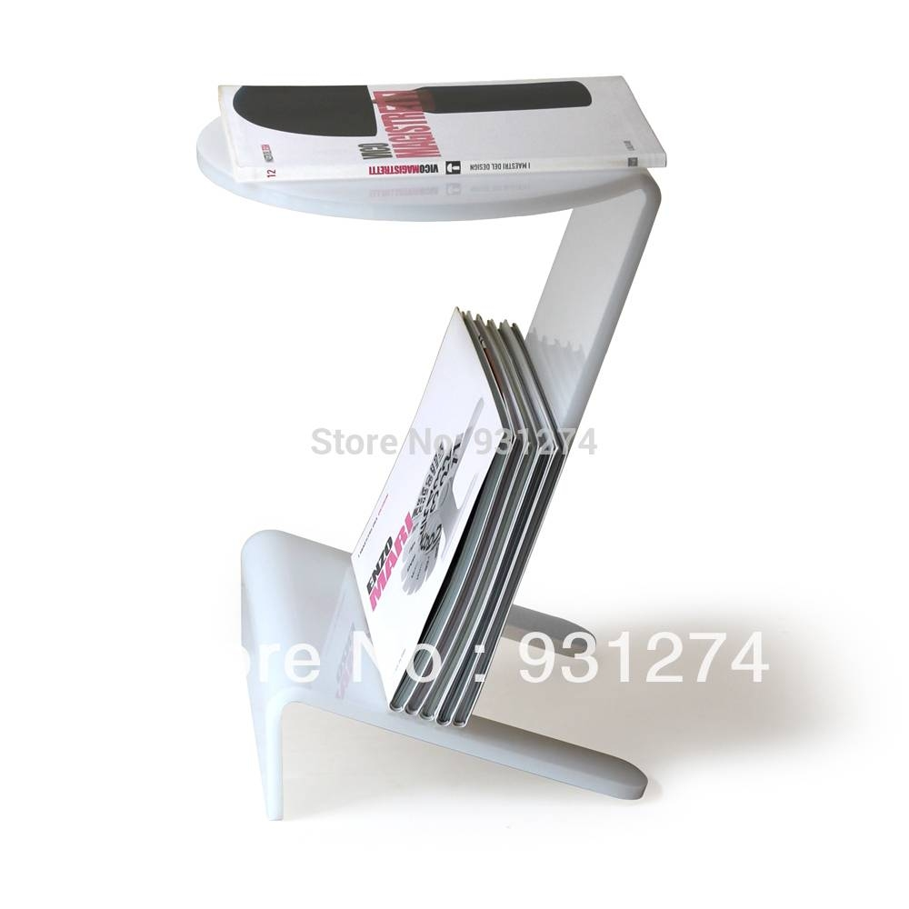 Aliexpress : Buy Acrylic Side Table With Magazine Rack Coffee for Acrylic Coffee Tables With Magazine Rack (Image 6 of 30)