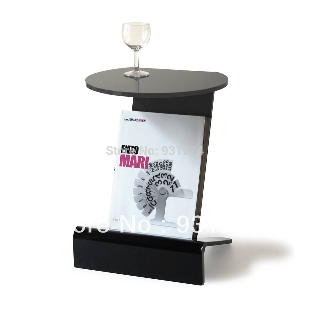 Aliexpress : Buy Acrylic Side Table With Magazine Rack Coffee in Acrylic Coffee Tables With Magazine Rack (Image 7 of 30)