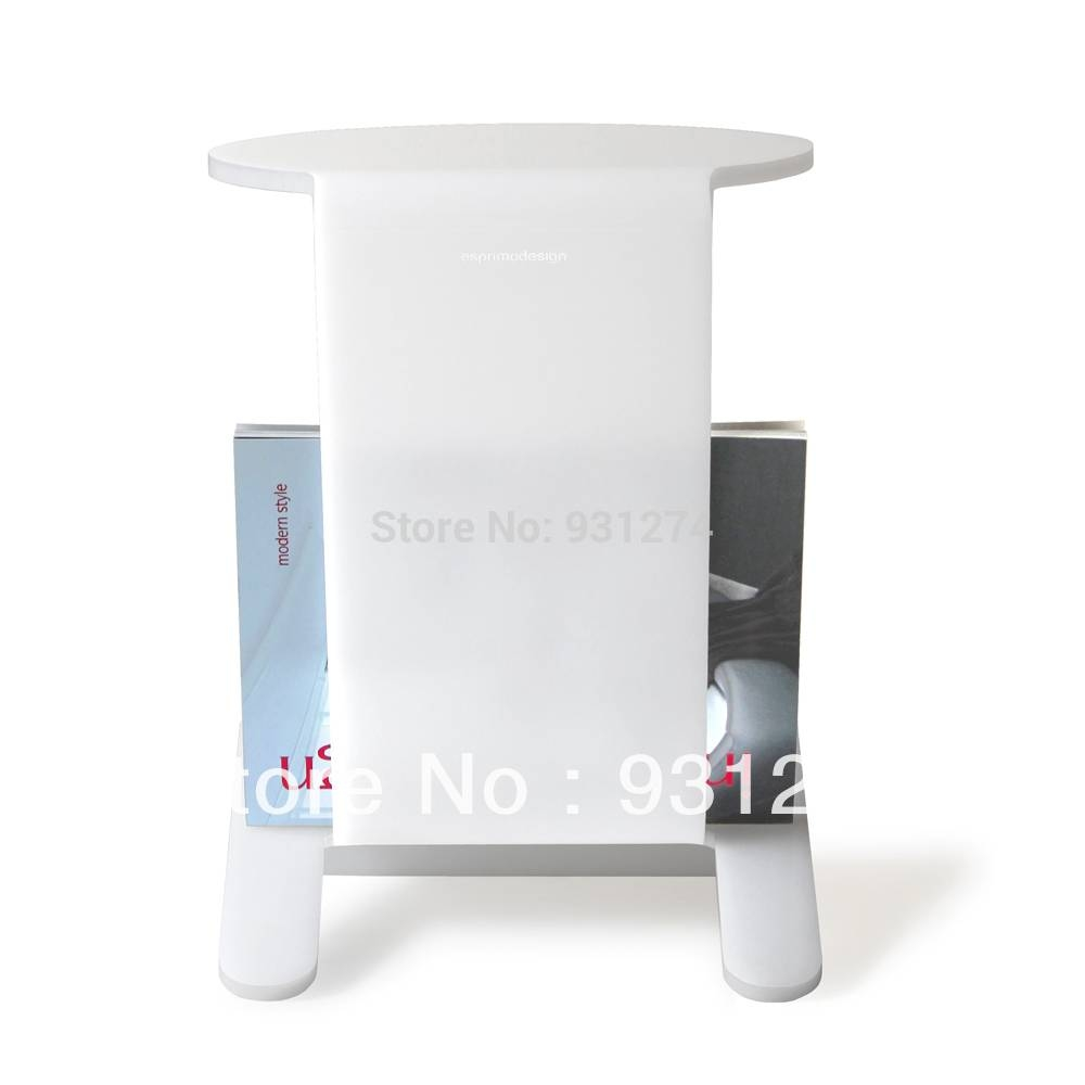 Aliexpress : Buy Acrylic Side Table With Magazine Rack Coffee inside Coffee Tables With Magazine Storage (Image 2 of 30)