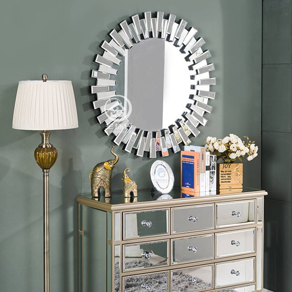 Aliexpress : Buy Modern Round Wall Mirror Glass Console Mirror pertaining to Modern Venetian Mirrors (Image 1 of 25)