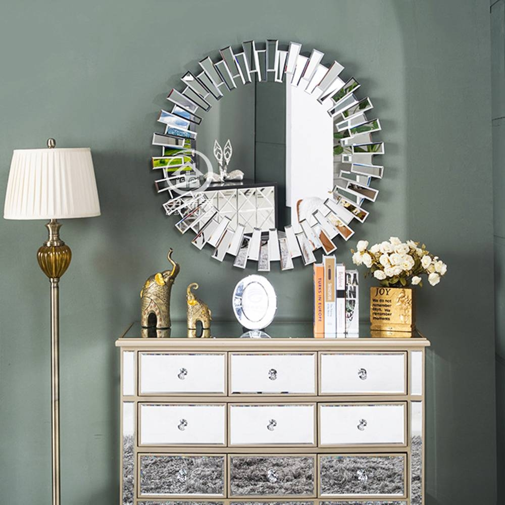 Aliexpress : Buy Modern Round Wall Mirror Glass Console Mirror regarding Modern Venetian Mirrors (Image 2 of 25)