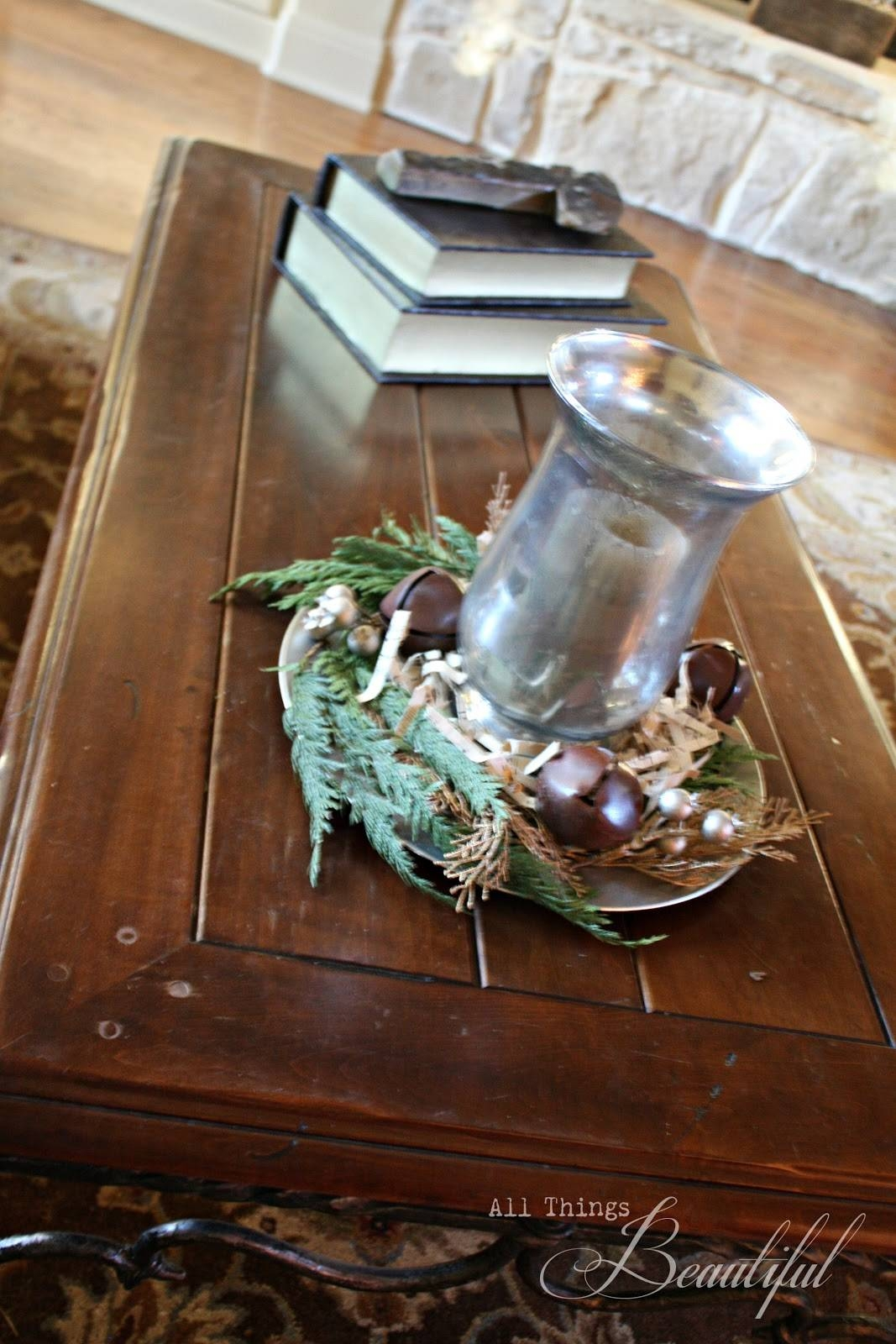All Things Beautiful: {Mercury Glass} Christmas Hurricane inside Mercury Glass Coffee Tables (Image 4 of 30)