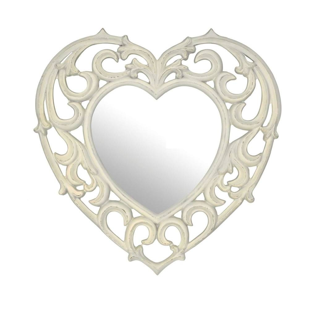 Alluring Simple Modern Mirror Design Ideas Come With Roundmodern throughout Heart Shaped Mirrors For Wall (Image 2 of 25)