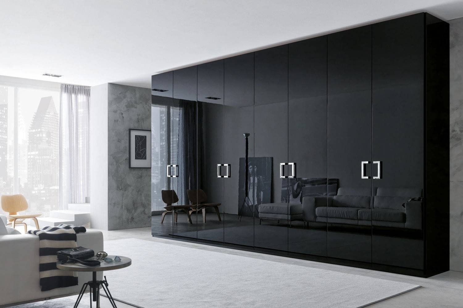 Alluring Wardrobe Closet: Wardrobe Closet Wardrobes With Mirror intended for Black Wardrobes With Mirror (Image 1 of 15)