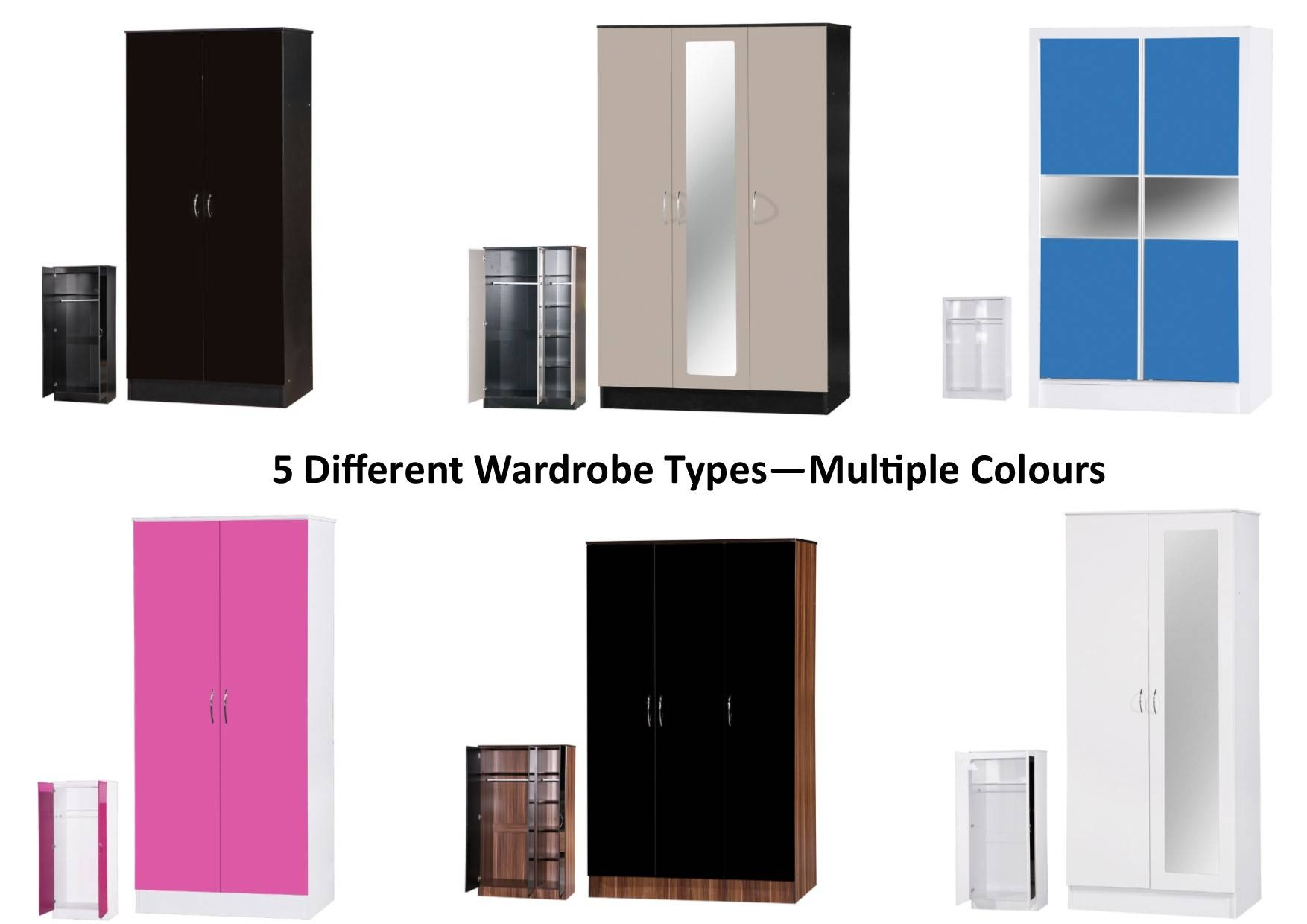 Alpha High Gloss Wardrobes - 2 Or 3 Door Mirrored Or Sliding inside High Gloss Sliding Wardrobes (Image 1 of 15)