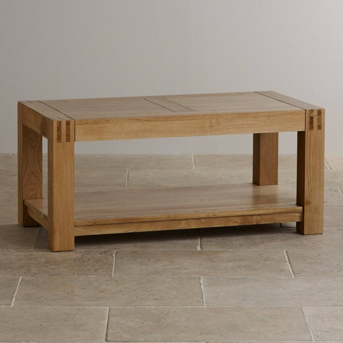 Alto Natural Solid Oak Coffee Table | Living Room Furniture with regard to Chunky Oak Coffee Tables (Image 4 of 30)