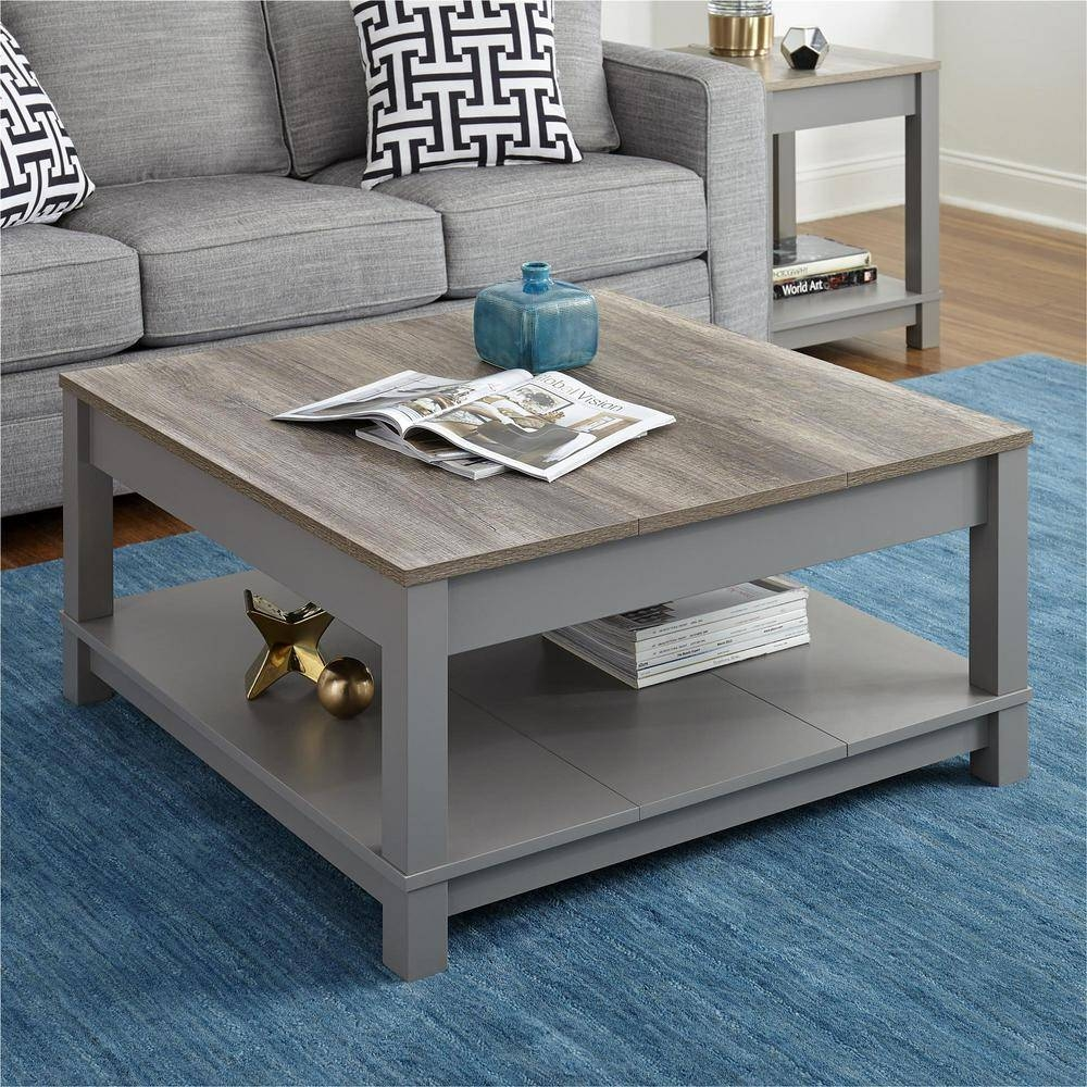 Altra Furniture Carver Gray/sonoma Oak Coffee Table-5047096Com intended for Grey Coffee Tables (Image 2 of 30)